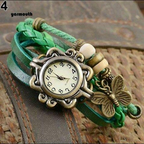 Relógio De Pulso Feminino Multicamadas Vintage - Foto 5