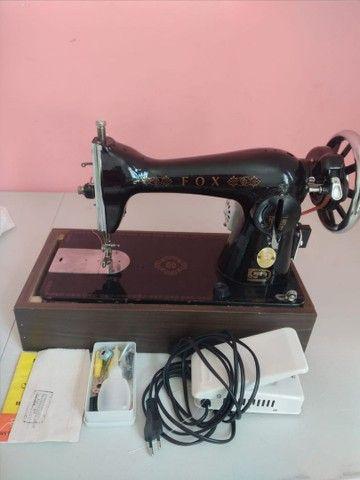 Máquina Costura Reta Doméstica Fox Pretinha Caseira Vigoreli
