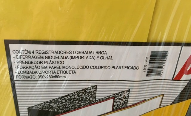 3 pastas organizadoras novas com ferragem cromada, marca polycart cor amarela - Foto 3