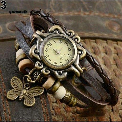 Relógio De Pulso Feminino Multicamadas Vintage - Foto 4