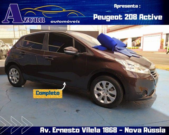PEUGEOT 208 ACTIV COMPLETO 1.5 FLEX REVISADO GARANTIA BAIXA KM IMPECÁVEL   - Foto 4