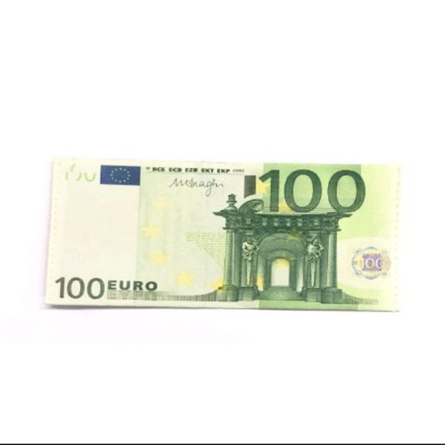 Carteira Estampada de Notas Estrangeiras Dólar/ Euro/ Real Guardar Cédulas Documentos  - Foto 5