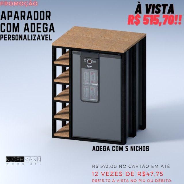 Aparador para Cervejeira Consul, personalizável para outros modelos, madeira Tauari