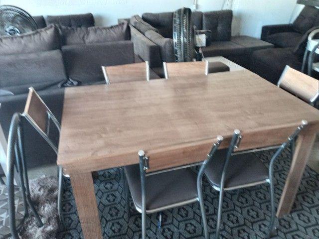 Conjunto de mesa 6lugar NATIVE CADEIRAS cromadas  - Foto 3