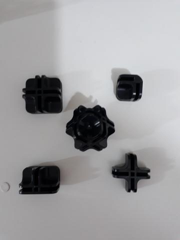 Conectivos para montagem de balcões e gôndolas