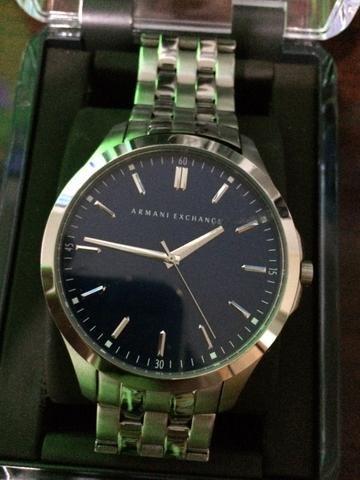 ae9eb063f6c9e Vendo relógio armani exchange original ax 2142 46mm prata apenas 800 ...