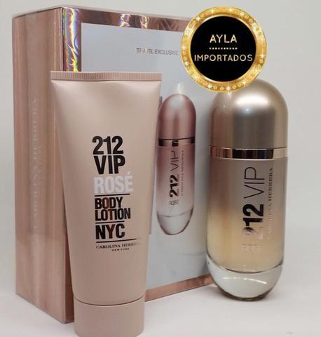5 x R$: 83,80 Perfume Carolina Herrera Kit 212 VIP Rose