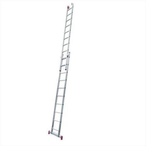 Escada de alumínio extensível 2 x 10 degraus 5,40mt - Foto 2