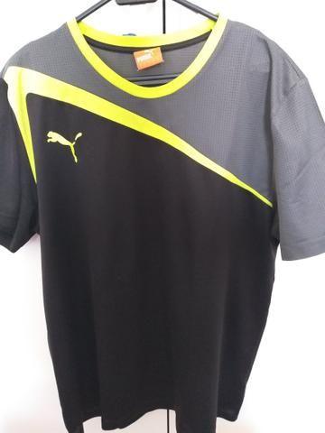 19b01056d Camisa Puma Dry Fit Tamanho G Usada Poucas Vezes - Roupas e calçados ...