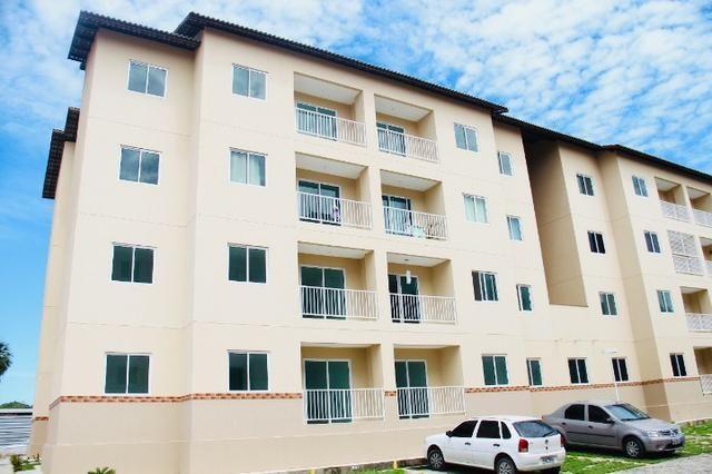 Apartamento com doc. gratis: 2 quartos, 2 banheiros , piscina, salao de festas - Foto 3
