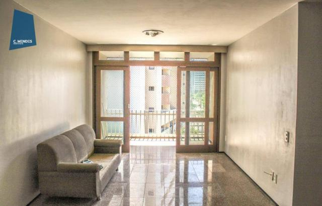 Apartamento com 3 dormitórios para alugar, 100 m² por R$ 1.600/mês - Papicu - Fortaleza/CE - Foto 3
