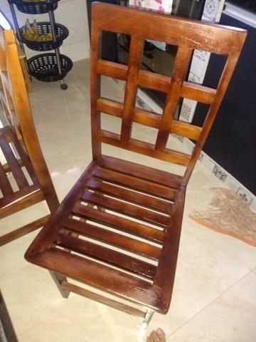 4 cadeiras de madeira - Foto 5