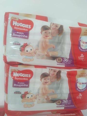2 pacotes de fraldas huggies supreme care
