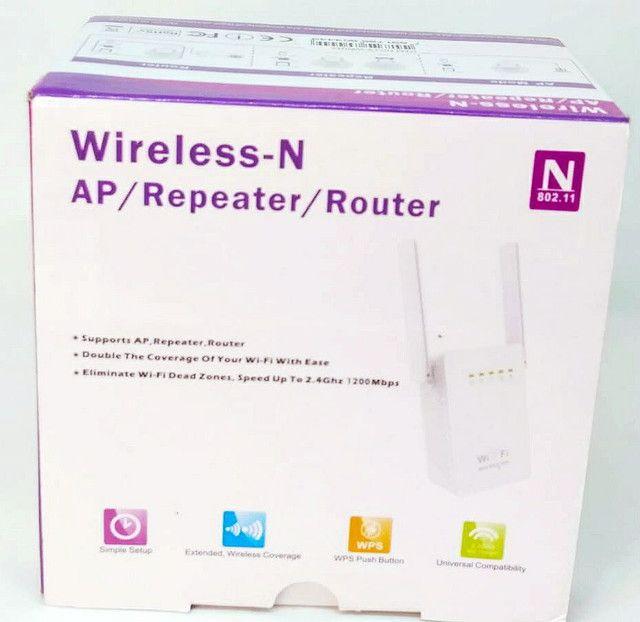 Repetidor de sinal Wi-Fi Duas Antenas Qualidade - Foto 2