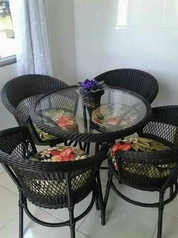 Conjunto de varanda fibra sintetica - varanda e jardim - Foto 2