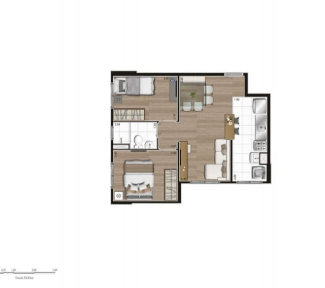 Apartamento no Tatuapé 42 m², e 44 m² - Foto 13