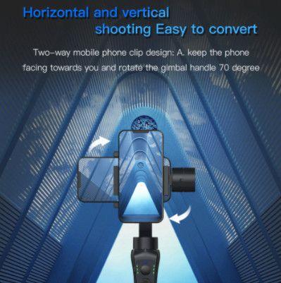 Gimbal estabilizador bluetooth com foco Zoom para telefone - Foto 4