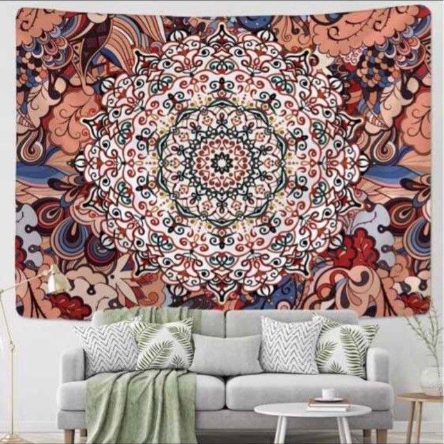 Tapete decorativo em tecido - Mandala do Amor