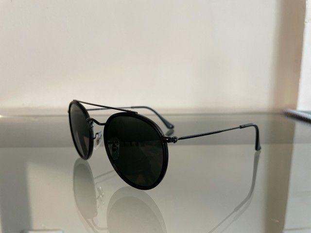 Óculos Rayban ROUND DOUBLE BRIDGE polarizado usado - Foto 3