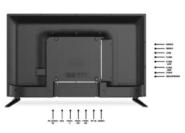 """TV LED 32"""" HQ HQTV32 Resolução HD com Conversor Digital 3 HDMI 2 USB Recepção Digital<br><br> - Foto 4"""