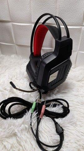 Headset gamer com luz de led e microfone flexível/ Preço Imbatível  - Foto 3