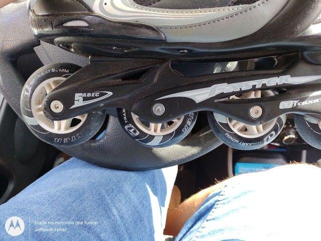$100,00 pra hoje....Roller Traxart num 41 em estado de novo - Foto 3