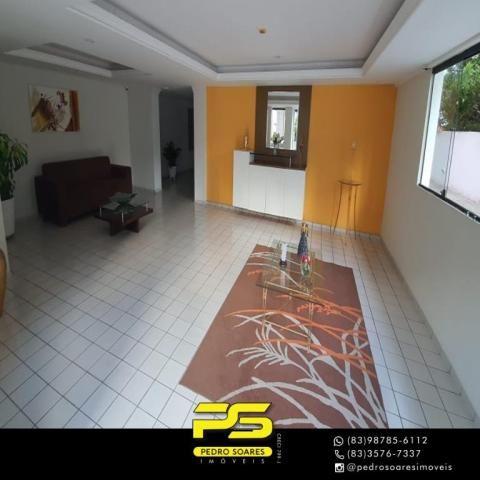 (ALUGO) Apartamento com 2 dormitórios para alugar, 67 m² por R$ 2.100/mês - Cabo Branco -  - Foto 2