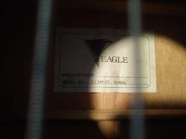 Violão 6 cordas Folk Eagle CH-889. ESTUDO TROCA - Foto 2