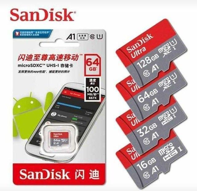 Cartão de memória micro SD SanDisk 32Gb/64gb/128Gb classe 10 Ultra original com adaptador - Foto 6