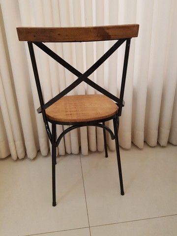 Cadeira Vintage X Rústica  - Foto 6