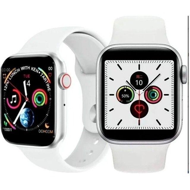 Smartwatch Iwo W26 Android Ios Tela Infinita 40mm Branco - Foto 3