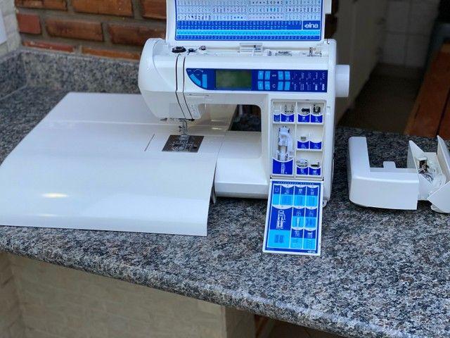 Máquina de costura Doméstica com pontos decorativos   - Foto 6