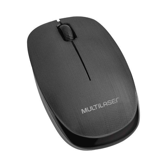 Mouse Multilaser Sem Fio 2.4 Ghz 1200 DPI Usb Preto - MO251 - Foto 2