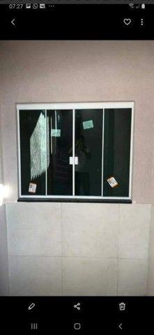 Janela de Blindex fumê 100x120 + kit para instalação  - Foto 6