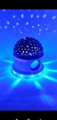 Abajur Luminária céu estrelado com Bluetooth ? ?:  - Foto 3