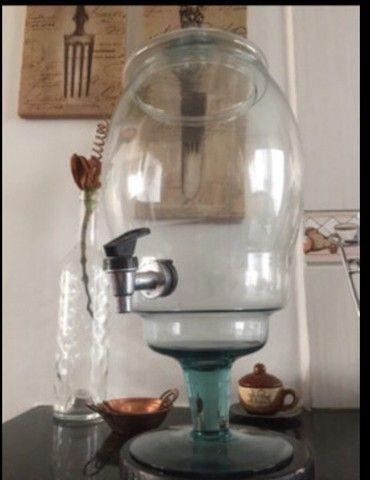 Recipiente de vidro 3,5litros c/torneira - Foto 5