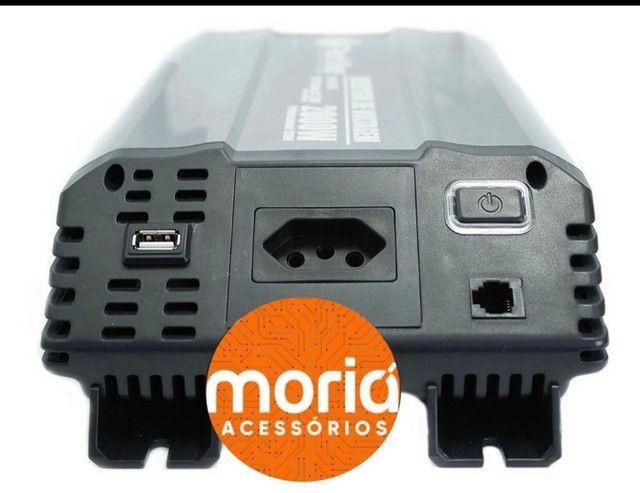 Inversor Tech One 2000W 12V para 110V Conversor Tomada USB - Foto 3