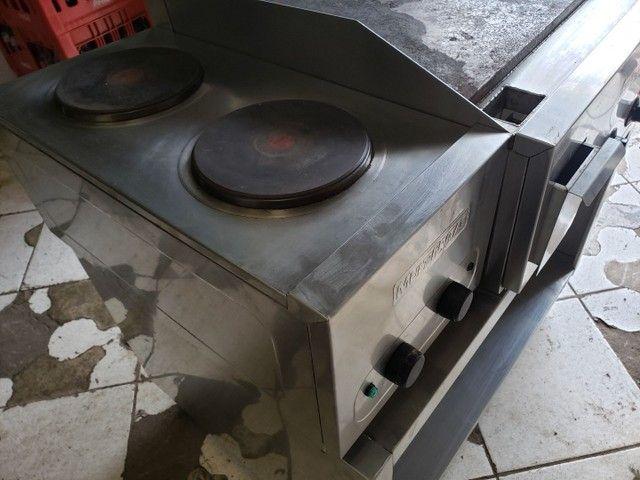 Estação de trabalho com Chapa + fogao por indução  - Foto 4