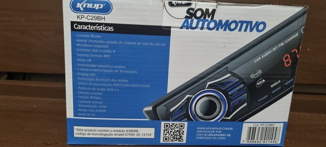 Som automótivo  com Bluetooth  - Foto 4