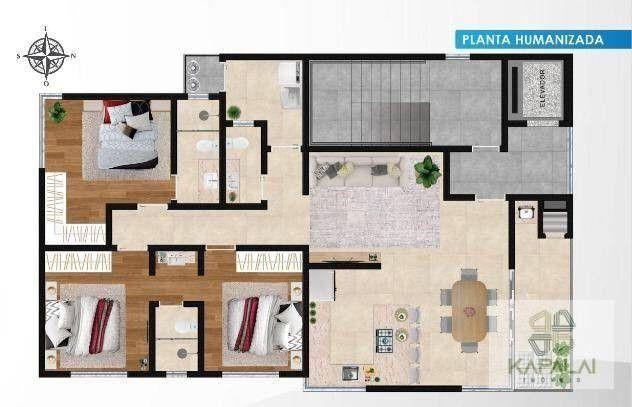 Apartamento com 3 dormitórios à venda, 105 m² por R$ 610.000 - Tabuleiro - Barra Velha/SC - Foto 2
