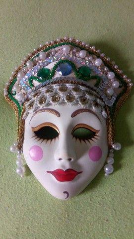 Coleção de mascaras Italianas em porcelana;
