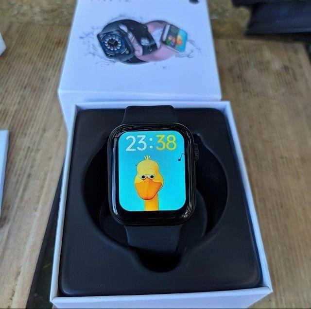 Smartwatch Iwo Hw12 Azul Original Foto Tela E Faz Ligações - Foto 3