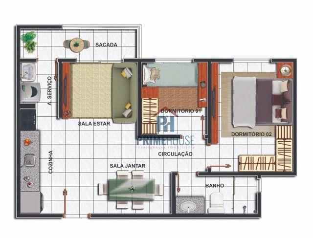 Apartamentos com 2 e 3 dormitórios à venda, 49 m² e 70 m²- Morada do Ouro - Cuiabá/MT - Foto 2