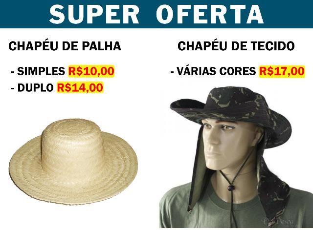 Chapéu de Tecido ou de Palha a pronta entrega