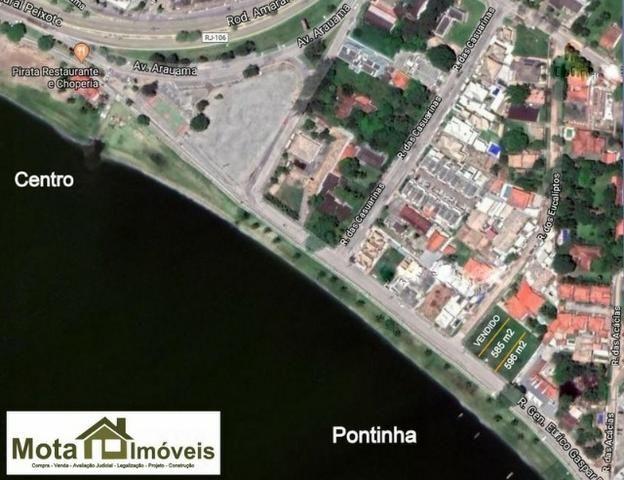 Mota imóveis - Tem em Frente a Lagoa na Pontinha Terreno de 585m² com Rgi TE- 231 - Foto 3