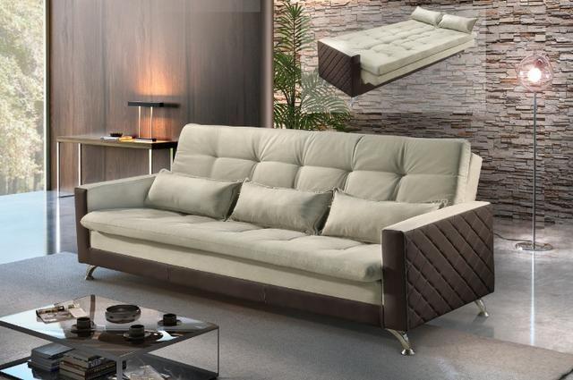 Sofá cama Viena ref11 Luxury #evksofacamaviena - Foto 2