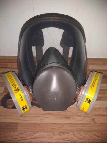 Máscara Facial Inteira 3M 6897 + Respirador 3M 6006