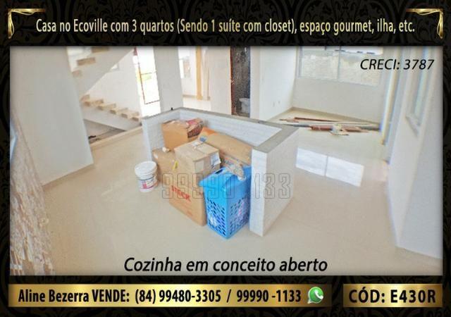 Oportunidade, duplex no Ecoville, com 3 quartos, cozinha com ilha, sala alta, confira - Foto 4