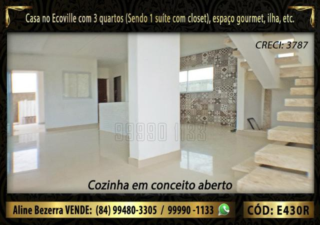Oportunidade, duplex no Ecoville, com 3 quartos, cozinha com ilha, sala alta, confira - Foto 3