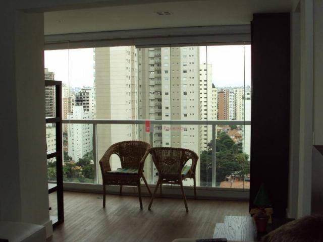 Apartamento com 1 dormitório para alugar, 51 m² por r$ 2.600/mês - campo belo - são paulo/ - Foto 16